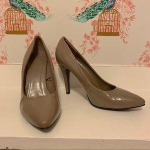 Patent Leather Taupe Stilettos sz 10